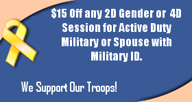$15 Off any 2D Gender or 4D Session for Active Duty Military or Spouse with Military ID